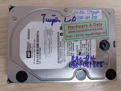 14-4 Western 320GB bị mất dữ liệu