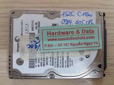 7525 Seagate 120GB bị lỗi cơ