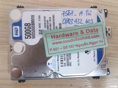 7569 Western 500GB đầu từ bị lỗi
