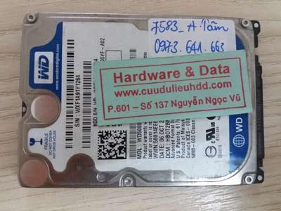 7583 western 500GB hỏng đầu từ
