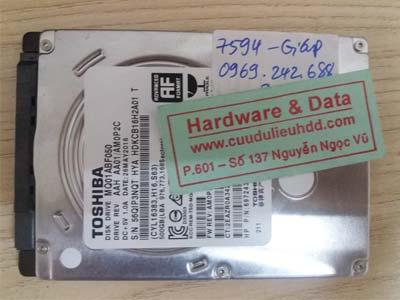 7594 Tosshiba 500GB mất dữ liệu
