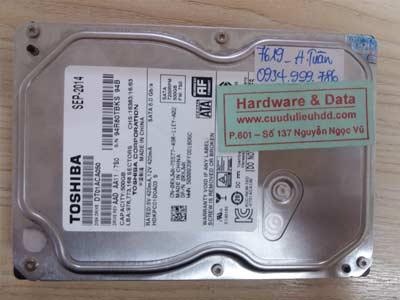 7619 Toshiba 500GB đầu từ lỗi