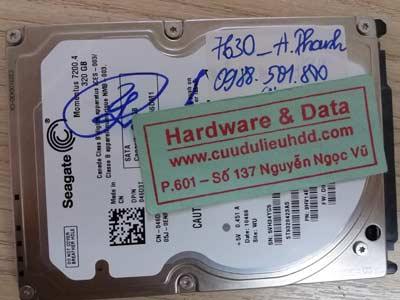 7630 Seagate 320GB đầu từ hỏng