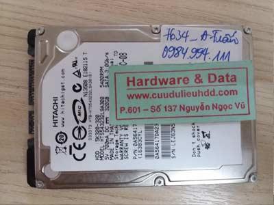 7643 Hitachi 750GB mất định dạng