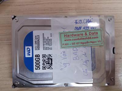 7639 Western 500GB đầu đọc lỗi