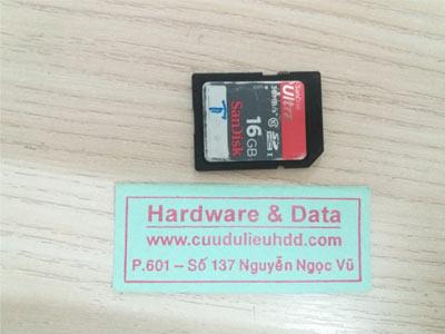Thẻ sandisk 16GB cut patse mất dữ liệu