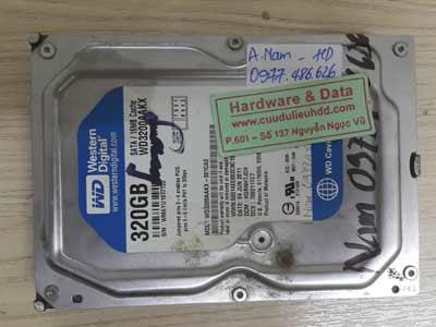 10-5 Western 320GB hỏng định dạng