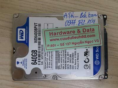 15-5 Western 640GB bị chết cơ