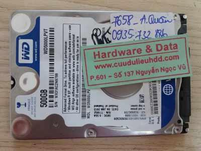 7658 Western 500GB hỏng cơ