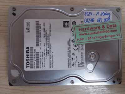 7681 Toshiba 500GB đầu từ lỗi
