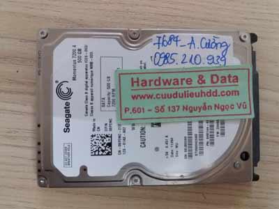 7684 Seagate 500GB hỏng cơ