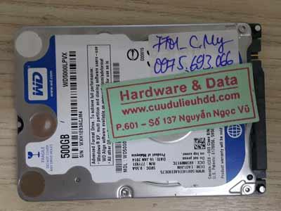 7701 Western 500GB chia lại ổ