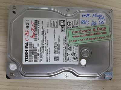 7728 Toshiba 500GB lỗi đầu từ