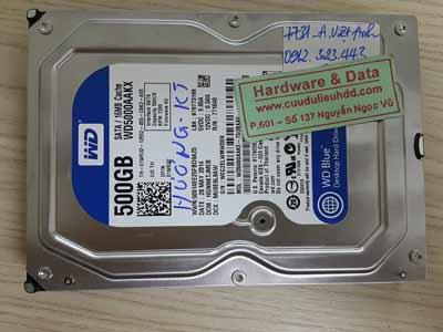 7731 Western 500GB không nhận