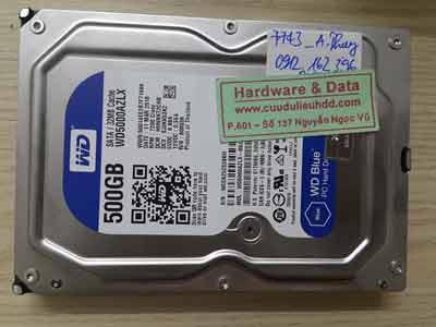 7743 Western 500GB mất dữ liệu