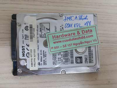 7745 Hitachi 500GB không truy cập được dữ liệu