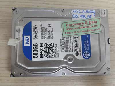7753 Western 500GB đầu từ lỗi