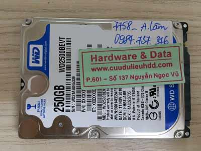 7758 Western 250GB lỗi đầu từ