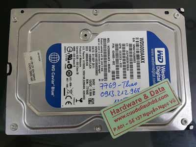 7769 Westen 500GB bị lỗi đầu từ