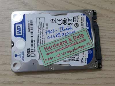 7803 Western 500GB lỗi đầu đọc