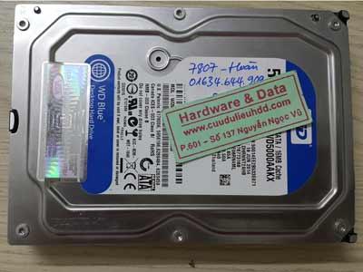 7807 Western 500GB cháy mạch