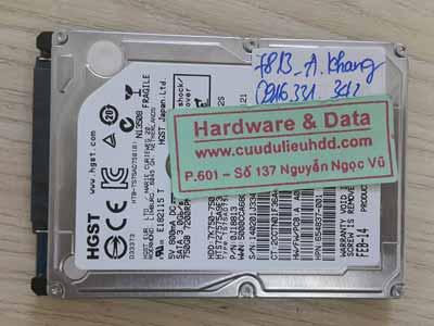 7813 Hitachi 750GB lỗi đầu từ