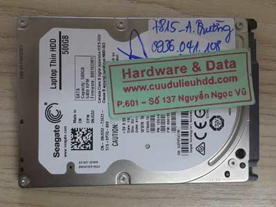 7815 Seagate 500GB chết cơ