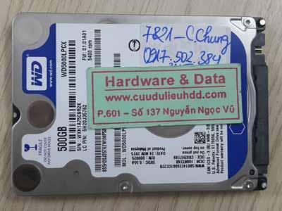 7821 Western 500GB không nhận