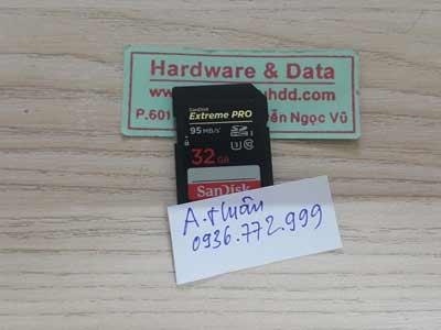 5-6 Thẻ nhớ SD 32GB mất dữ liệu