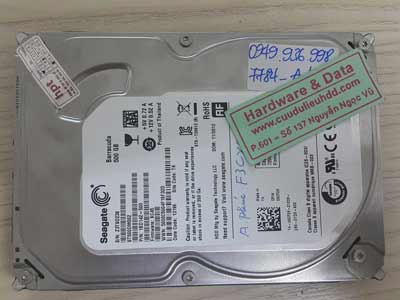 7784 Seagate 500GB hỏng đầu từ