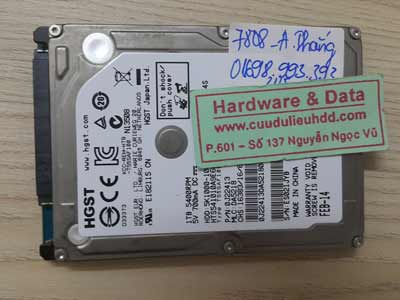 7808 Hitachi 1TB lỗi phân vùng D