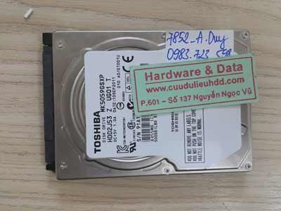 7852 Toshiba 500GB chết cơ