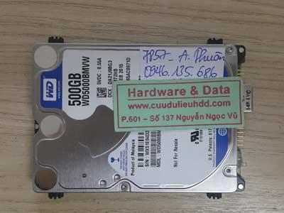 7857 Western 500GB hỏng đầu từ
