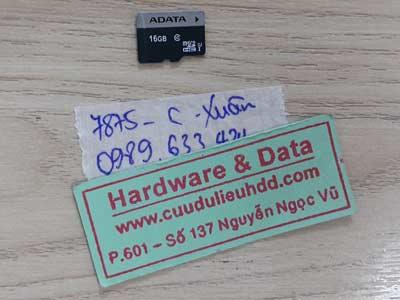 7875 thẻ nhớ 16GB bị mất định dạng
