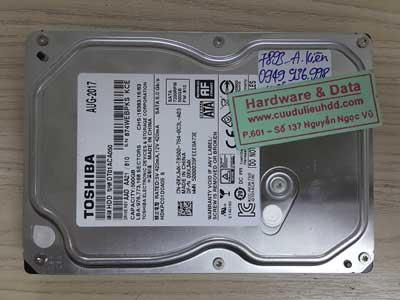 7893 Toshiba 500GB lỗi đầu từ