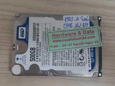 7903 Western 500GB hỏng đầu từ