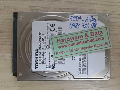 7904 Toshiba 500GB chết cơ