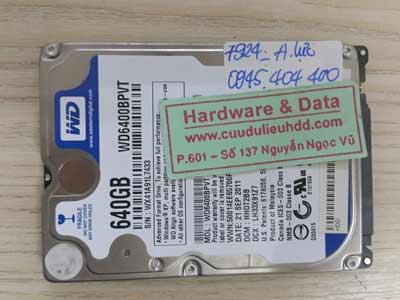 7924 Western 640GB cắt mất dữ liệu