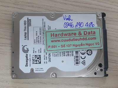 20-7 Seagate 500GB hỏng cơ