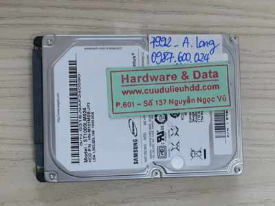 7992 Samsung 1TB đầu từ hỏng