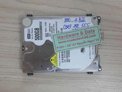 8000 Western 500GB chết cơ