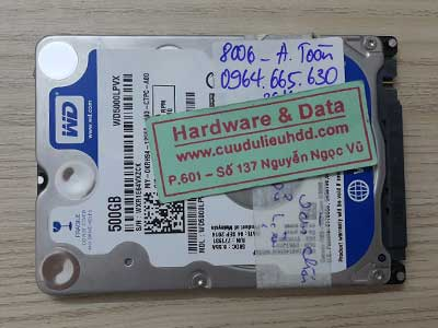 8006 Western 500GB chết cơ