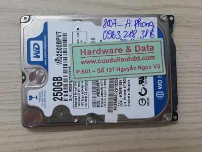 8007 Western 250GB hỏng cơ