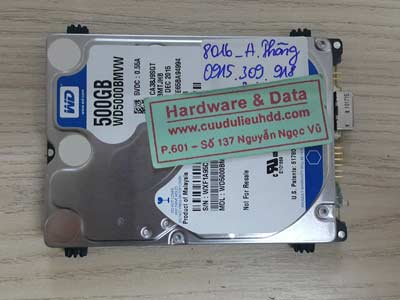 8016 Western 500GB lỗi cơ