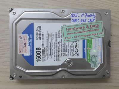 8035 Western 160GB hỏng cơ