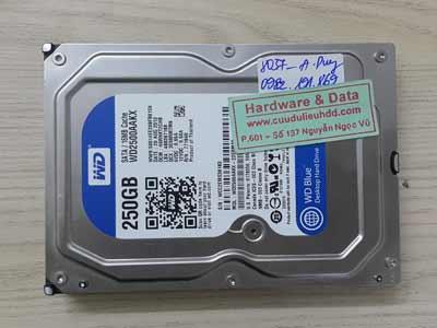 8037 Western 250GB đầu từ lỗi