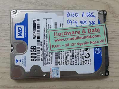 8050 western 500GB xóa mất dữ liệu