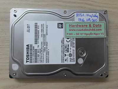 8051 Toshiba 500GB đầu đọc lỗi