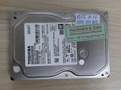 8055 toshiba 500GB hỏng đầu từ