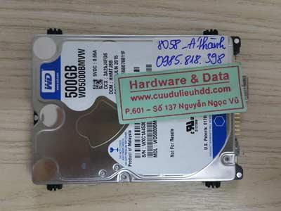 8058 western 500GB đầu từ lỗi